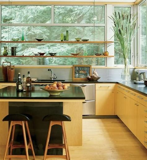 open shelf kitchen design open kitchen shelves and stationary window decorating 3749