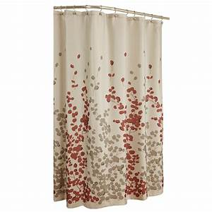 Shop allen roth rosebury polyester print red choc floral for Red show curtains