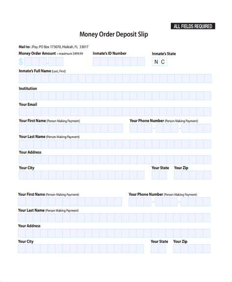money order template 9 deposit slip templates sle templates