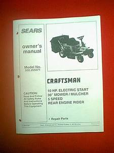 Craftsman 10 Hp 30 U0026quot  5 Speed Rear Engine Rider Model   502