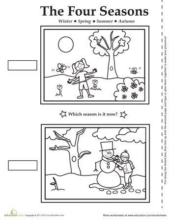 four seasons activity placemat other unit ideas