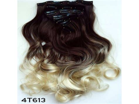 extensions de cheveux 224 couleur brun blond balayage tie and dye ombr 233