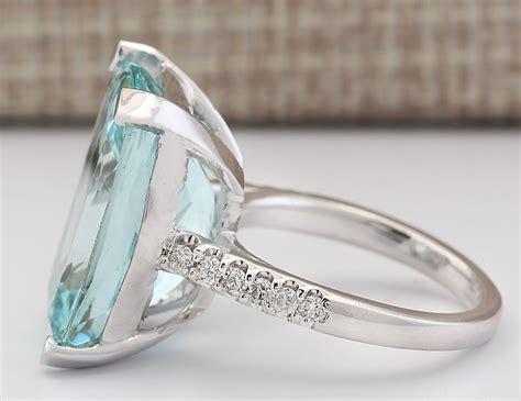 charming jewelry  silver aquamarine ruby gem ring women engagement size   ebay