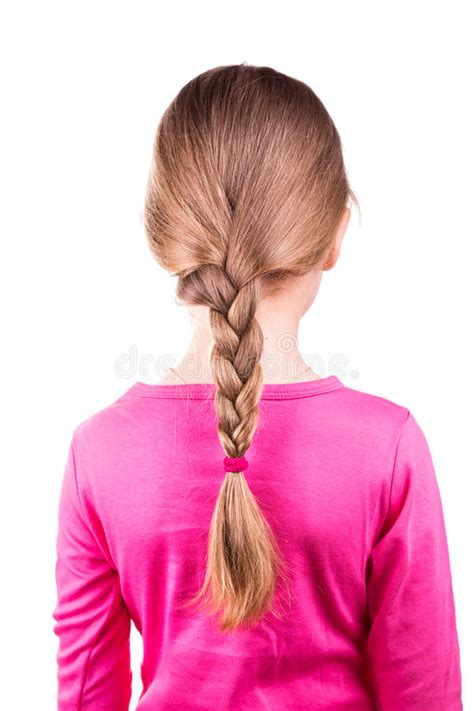 portrait   beautiful  girl  long hair   braid hair care concept stock photo
