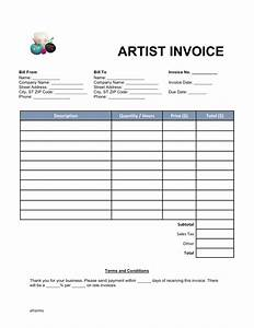 Fillable invoice template hardhostinfo for Fillable invoice