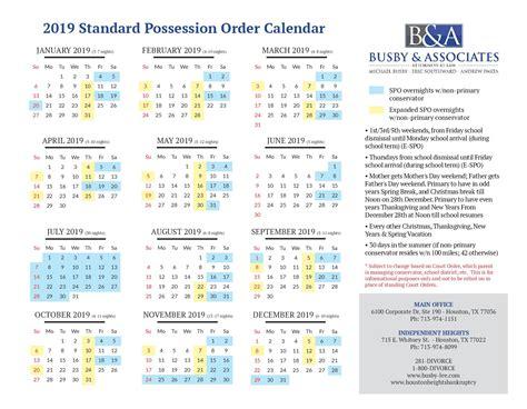 standard possession order parenting time family law divorce blog