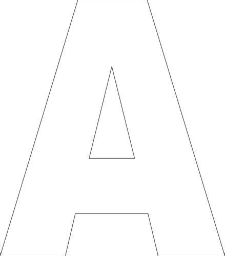 Block Letter Templates by Free Printable Alphabet Template Craft Ideas