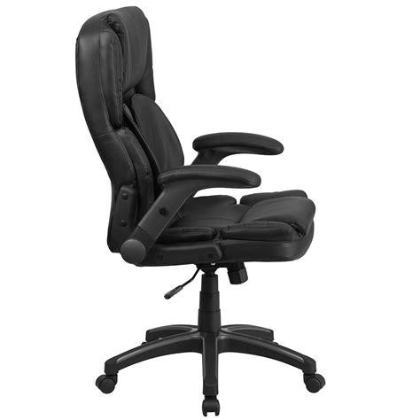 ergonomic home comfort high back black leather