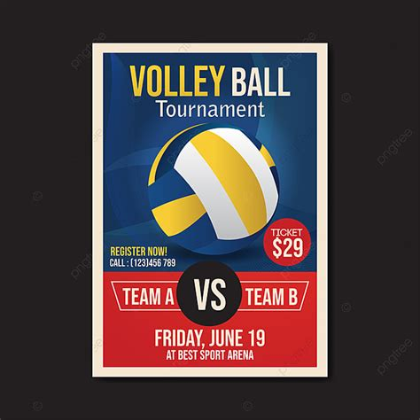 volleyball tournament flyer template vector template     pngtree