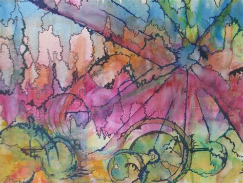 Reserved For Cate Abstract Original Watercolor Painting Ink