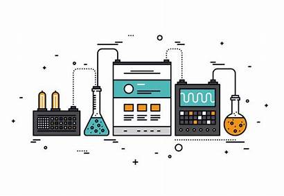 Test Equipment Automated Clip Illustrations Vector
