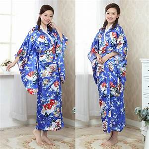 Moderne Japanische Kleidung : 2016 traditionelle japanische kleidung einzigartigen japanischen blume lange kimono japan seide ~ Orissabook.com Haus und Dekorationen