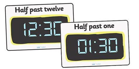 Digital Clocks  Half Past  Time Resource, Digital Clock, Time