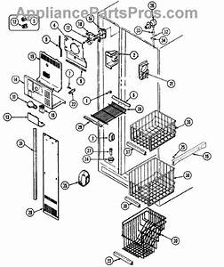 Parts For Maytag Rsw24e0dae  Freezer Compartment Parts