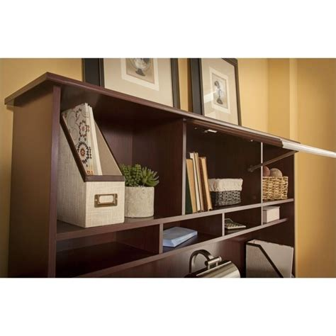 bush cabot 60 quot l shaped computer desk with hutch in
