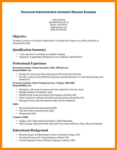 administrator resume objective exles 10 administrative assistant objectives exles time