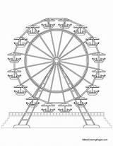 Ferris Wheel Coloring Printable Drawing Wheels Medicine Sheets Amusement Theme Fair Drawings Craft Thumbprint Getcolorings Carnival Classroom Farris Popular Themes sketch template