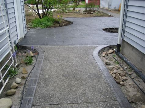 Stenciled Concrete Walkways Driveways Patios