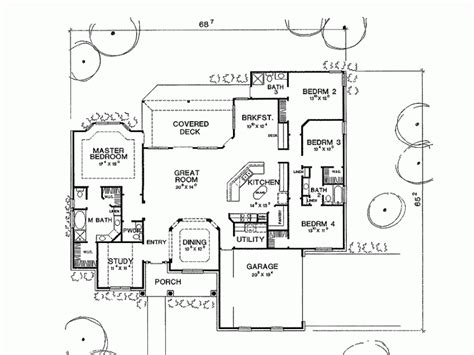 Delightful One Level House Plans by 4 Bedroom 1 Story House Plans Amusing Minimalist Home