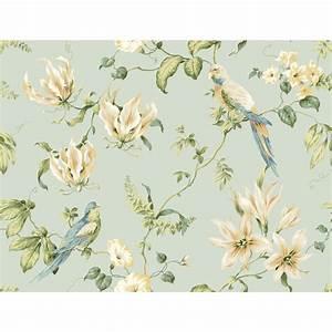 York Wallcoverings Tropical Floral Wallpaper