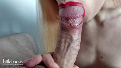 Super Close Up Blowjob With Foreskin Play Cum In Mouth