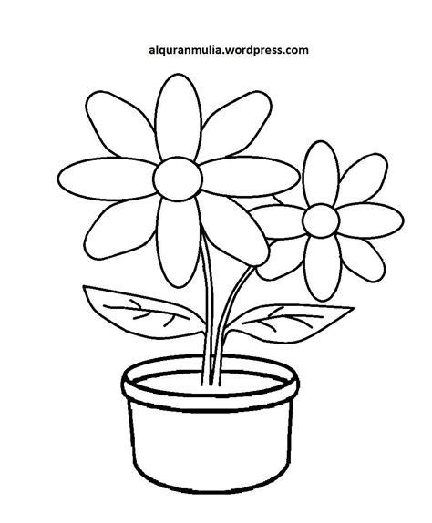 32 contoh gambar bunga untuk anak sd keren