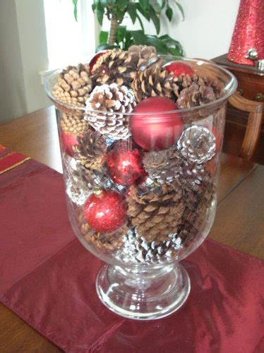 christmas centerpieces with big glass bowls