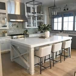 Farmhouse Kitchen Islands 37 Beautiful Farmhouse Interior Designs The Home Designer Co