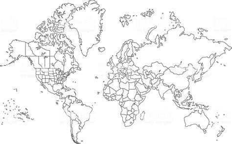 Carte Muette Monde à Imprimer by Outline World Map Stock Vector More Images Of