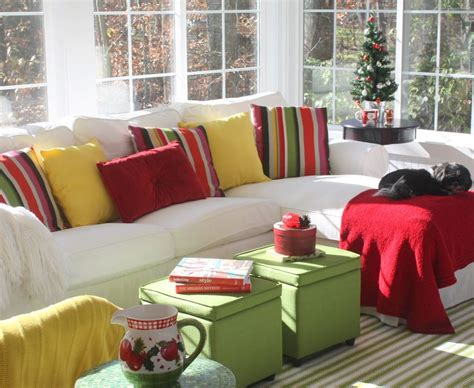 sofas for sunrooms my sunroom is ready for christmas now all we need is a little snow hooked on houses