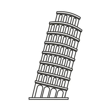 toren van pisa tekening tower clipart pisa tower pencil and in color tower