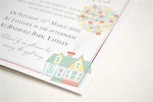 disney up film wedding invitations at rivervale barn With photo film wedding invitations