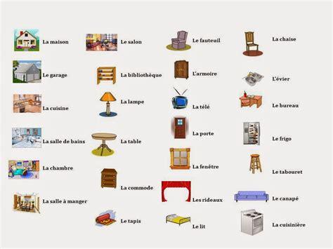 vocabulaire de la chambre bleu blanc les meubles de la maison