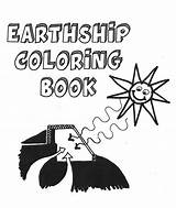 Coloring Earthship sketch template