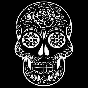 Tete De Mort Mexicaine Dessin : sticker t te de mort m xicaine 40x28 cm blanc tdm007 ~ Melissatoandfro.com Idées de Décoration