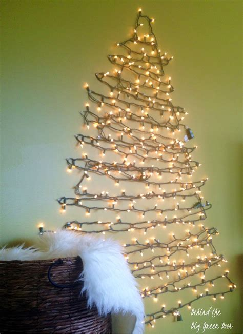 light tree on wall space saving christmas tree ideas for small spaces