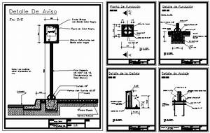 Bus Stop Sign On Pole 2D DWG Block For AutoCAD • Designs CAD