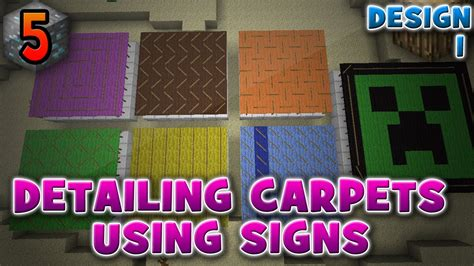 detailing carpets  signs design  minecraft minis  youtube
