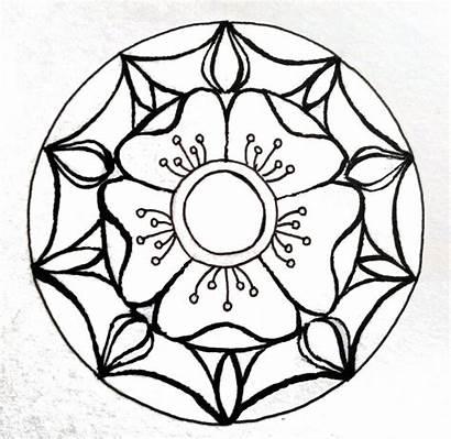 Shading Tips Colored Mandala Five Rose Pencils