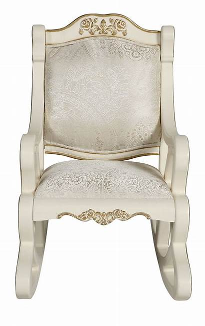 Chair Rocking Royal Ivory Antique Luxury Wooden
