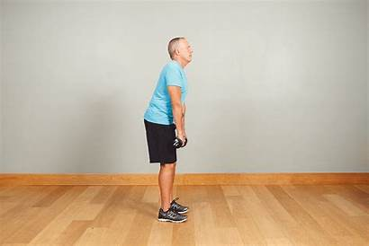 Posture Straight Shoulder Deadlift Stand Feet Apart