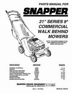Snapper Lawn Mower User Manual