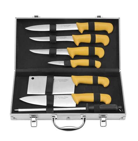 couteaux de cuisine pradel albert de thiers mallette eco 8 pièces acier inox