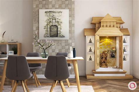 unique pooja room designs  wood  small apartments