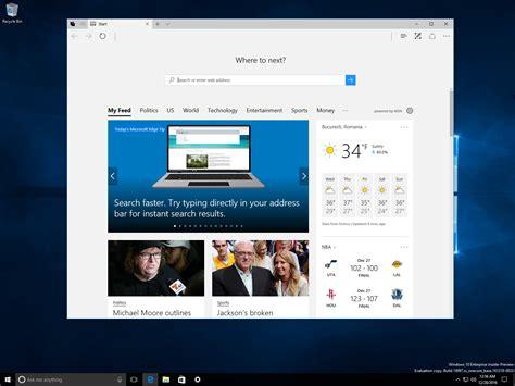 windows 10 build 14997 coming with major microsoft edge improvements