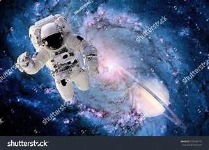 Astronaut Spaceman Outer Space Suit Black Hole Galaxy ...