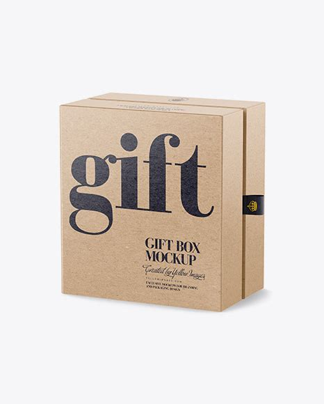 Professional high quality realistic paper box mockup for portfolio, showcase, presentation, poster this is a perfect ready for use mailing box mockup template. Download Psd Mockup Box Front View Gift Half Side View ...