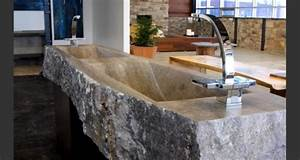 Lavabo En Pierre Naturelle : un lavabo vasque en pierre grand choix ~ Premium-room.com Idées de Décoration