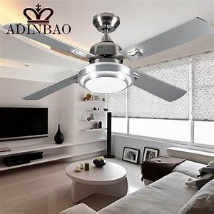 Modern silver color ceiling fans industrial bright
