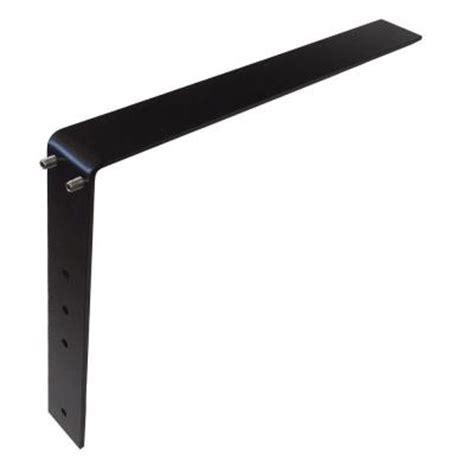 low profile 16 in steel countertop support adjustable
